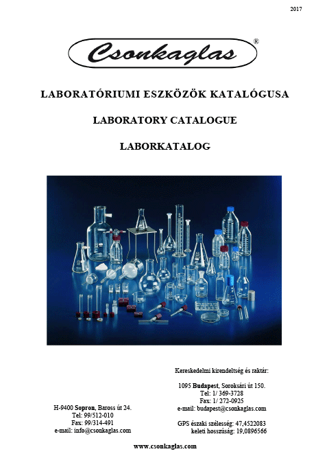 Csonkaglas Laborkatalog 2017.